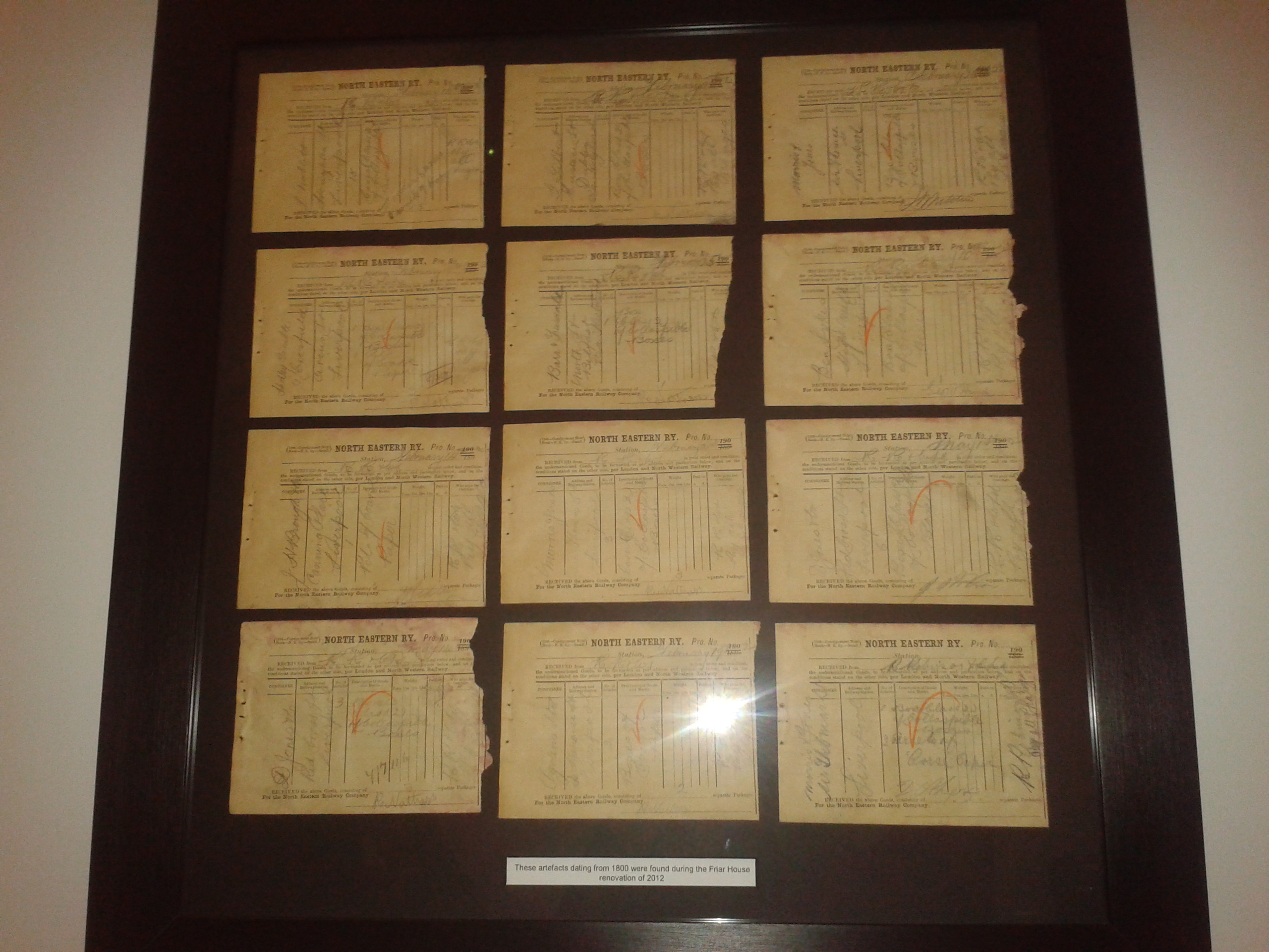 Original documents found in the building