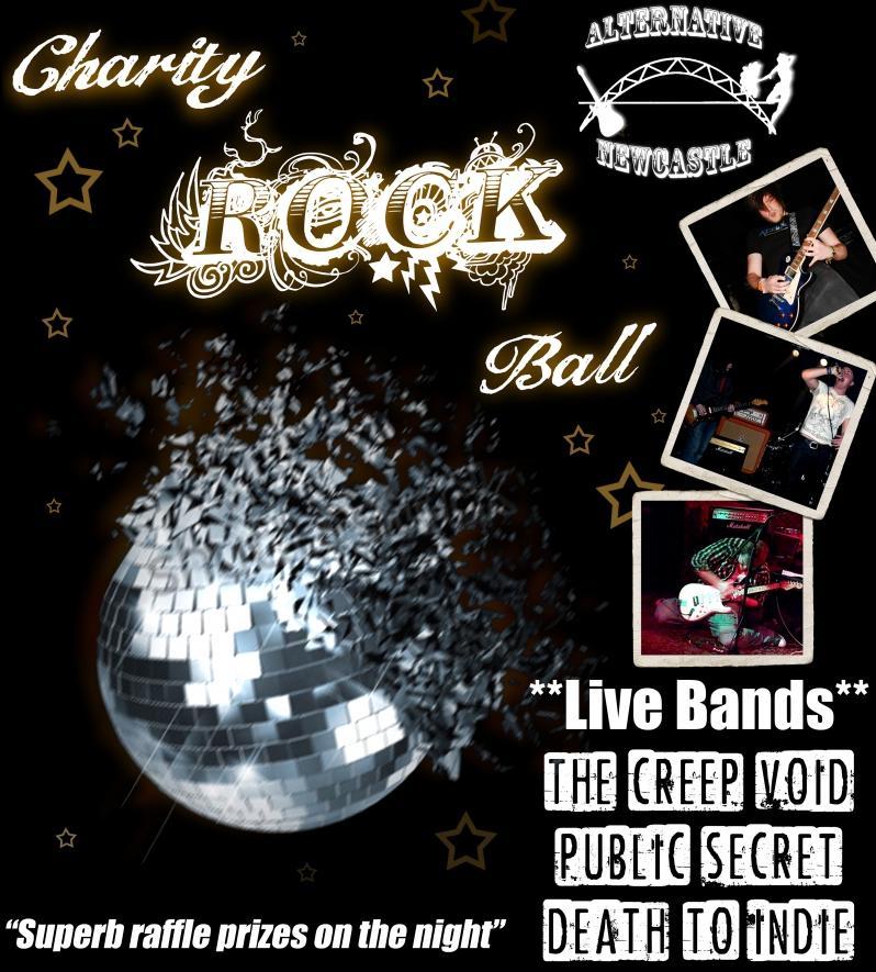 newcastle charity rock ball