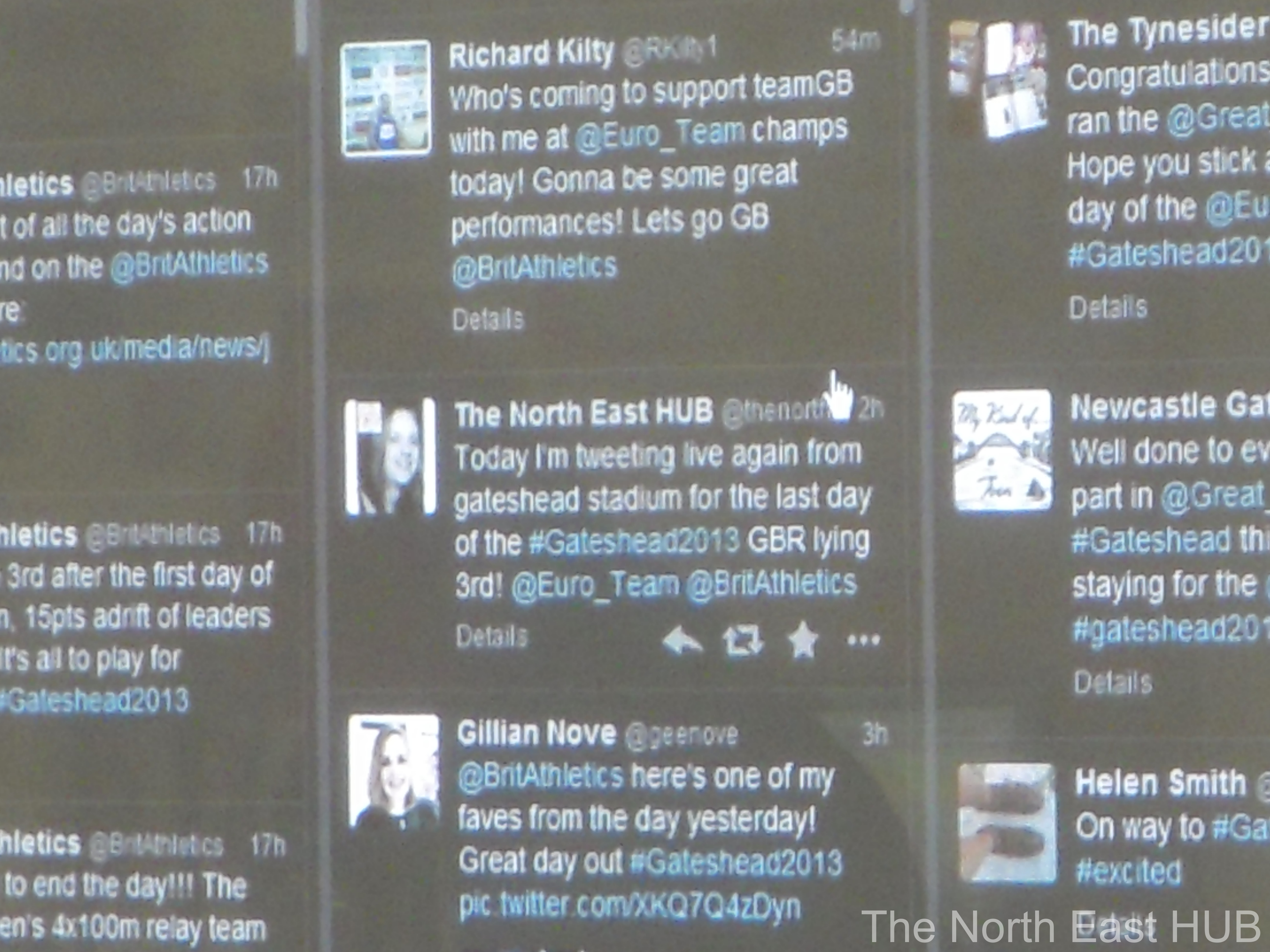 Our moment of fame on the updates board in the media centre :)