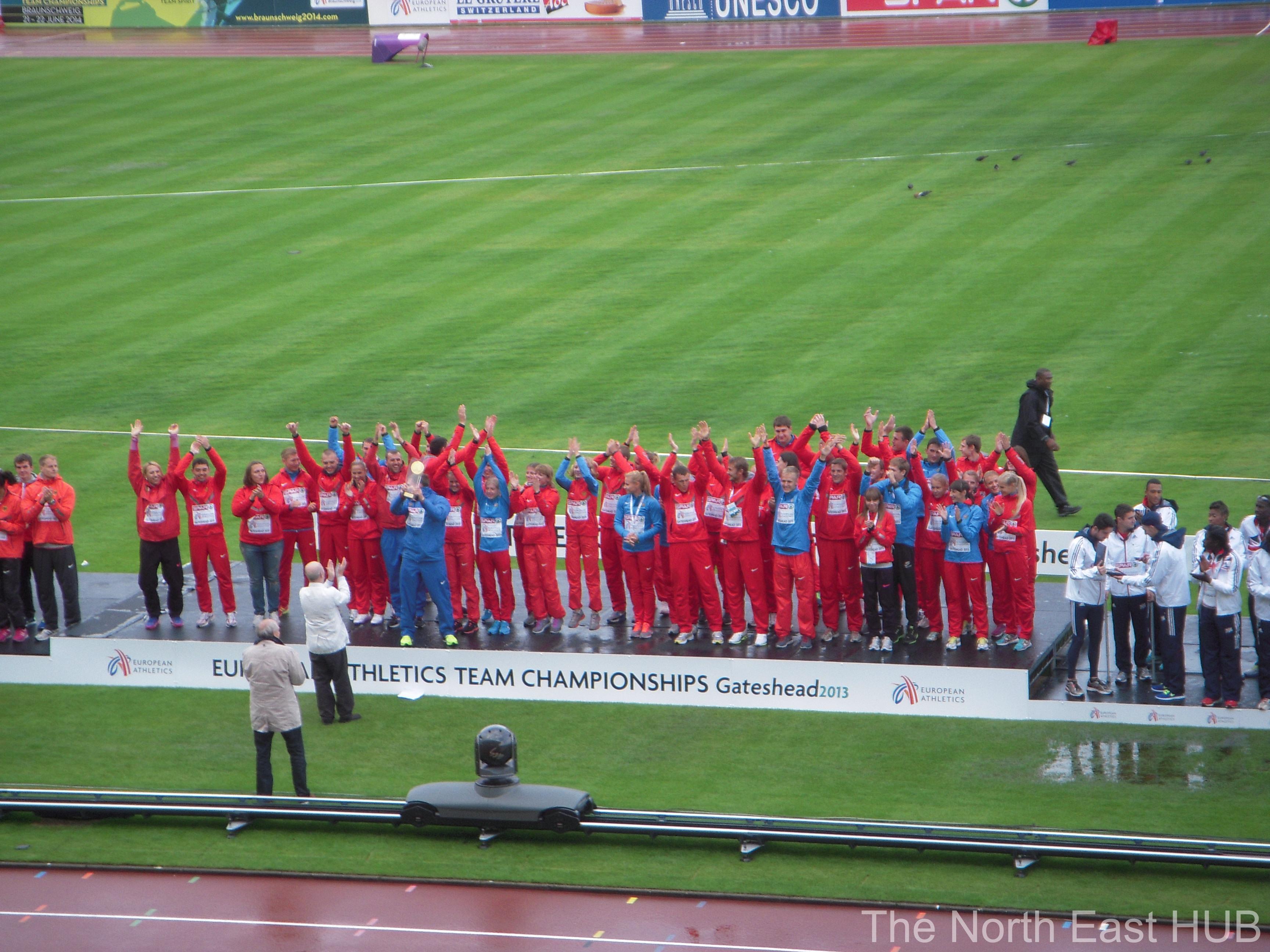 Russia win gateshead 2013