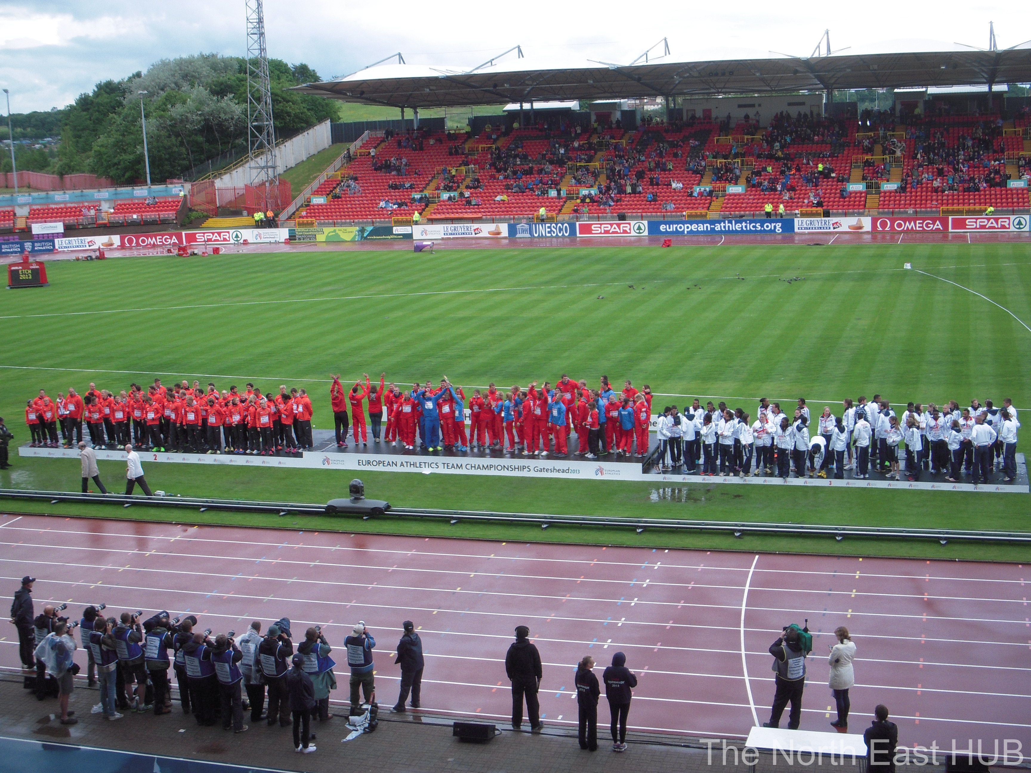 GBR, RUS, GER teams in gateshead 2013