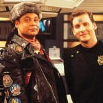 Lister and Rimmer from Red Dwarf