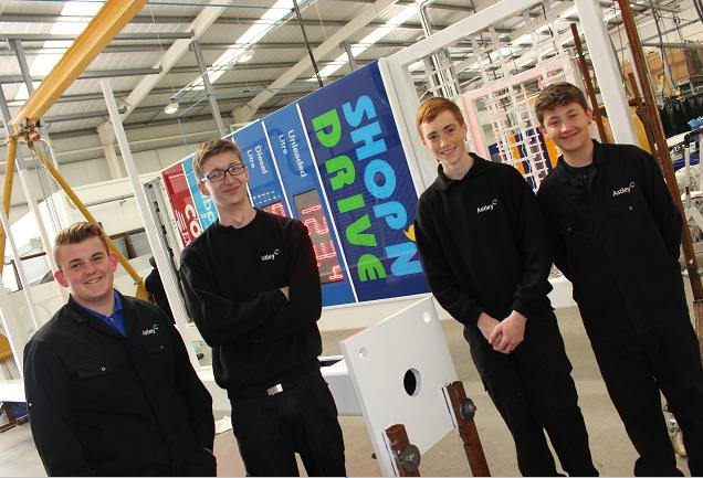 astley signs training apprenticeship team valley gateshead