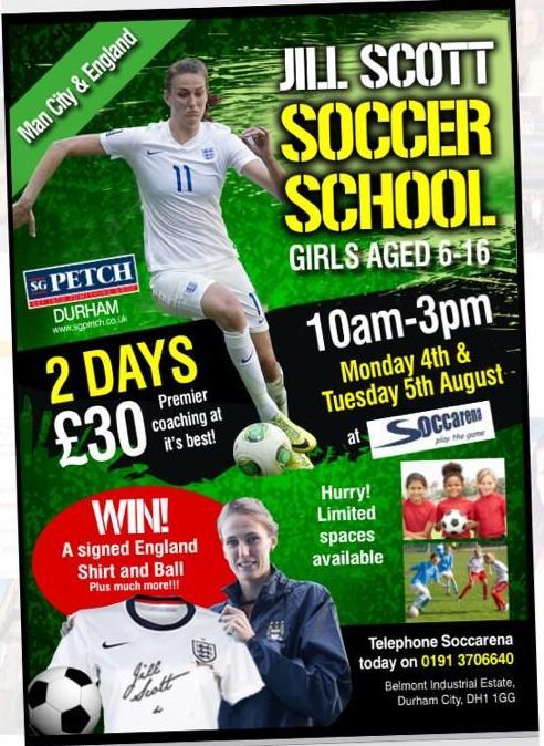 jill scott england summer school girls football