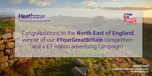 north east england win one million heathrow campaign