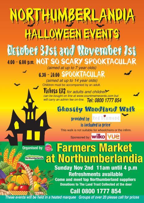 northumberland halloween farmers market