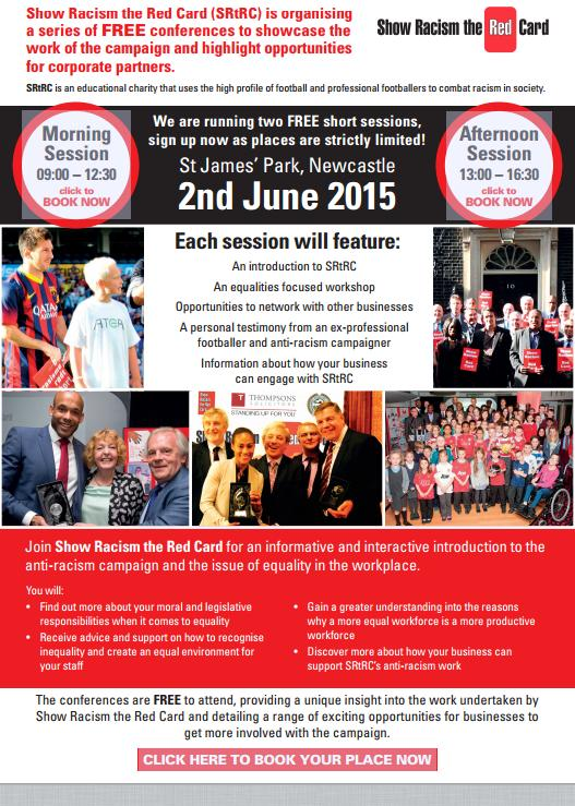 st-james, show racism the red card 2015