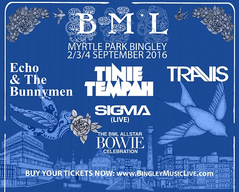 bingley music festival 2016 line up