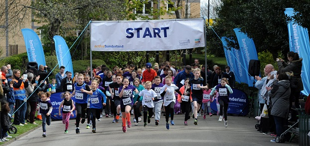 The start of last year's Big Family Fun Run in Mowbray Park.