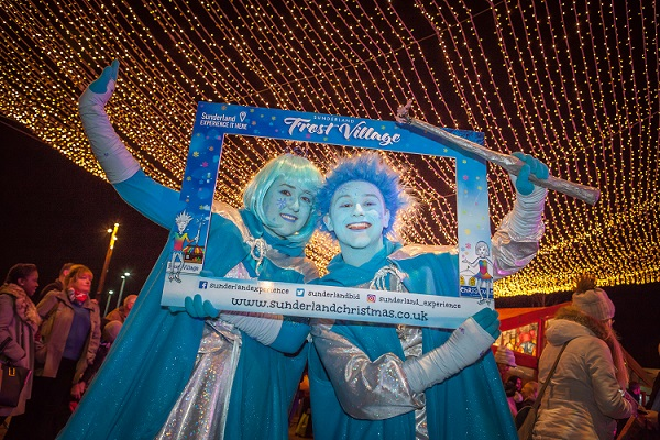 Visitors enjoy events during the launch of the 2016 Frost Village in Sunderland Picture: DAVID WOOD